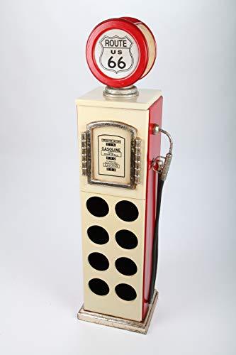 point home Weinschrank, Getränkeregal Zapfsäule mit Licht, weiß/rot, 109cm