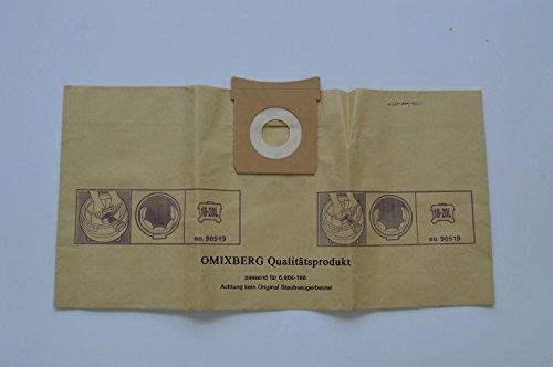 10x Staubsaugerbeutel geeignet für Kärcher Original 6.904-168.0 Papierfiltertüten Vorteilspack 10 Stück, 18-20 Liter) Vorteilspack Qualitätsfiltertüten [Energieklasse A++]