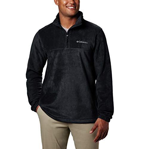 Columbia Men's Steens Mountain Half Zip Fleece, Black, Large