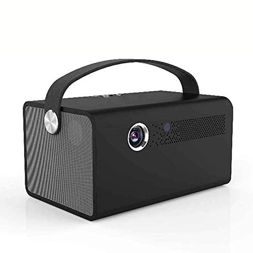 XIXIDIAN Mini proyector, 1080p y proyector de películas portátiles compatibles con pantalla, adopta tecnología de sonido envolvente virtual de doble canal, oficina inalámbrica de teléfonos móviles, pa