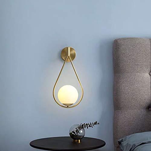 Hancoc Full Copper Nordic Living Room TV Background Lámpara De Pared Dormitorio Mesillas De Noche Pasillo Lámpara De Pared