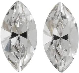SWAROVSKI Crystal, 4228 Xilion Navette Fancy Stone 8x4mm, 2 Pieces, Crystal F
