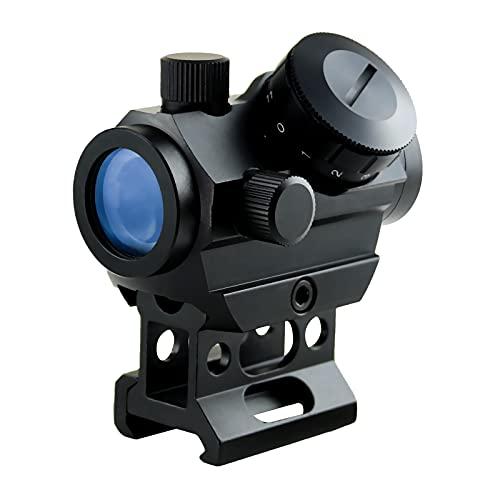 Busy Red Dot Airsoft, 3-4 impostazioni del cannocchiale da puntamento MOA 5 con base da 1 'e guida della guida Picatinny da 20 mm, lenti da caccia Airsoft