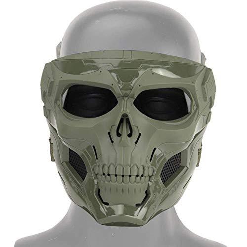 awhao-123 per Cool Skull Half Face Masks Halloween Skeleton Mask para Game Party Sports Playing Astounding
