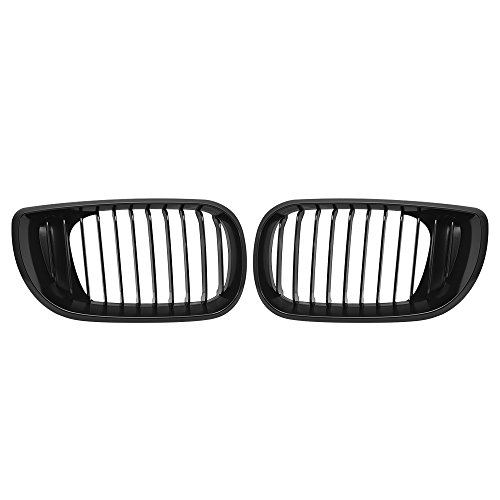 Price comparison product image Astra Depot Matte Black Euro Front Upper Kidney Grille For 2002-2005 E46 3 Series 320 325 330 4D Sedan Wagon