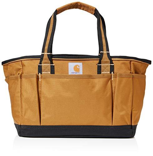 Carhartt Unisex-Adult Signature Utility Tote Tool Bag, Brown, OFA