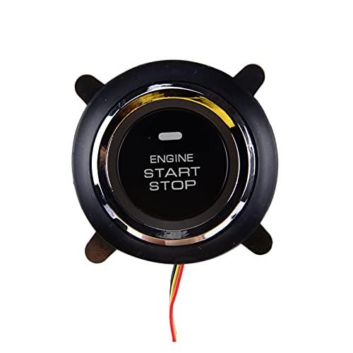 ZHANGJIN Coche de 3 líneas 12V 3 Pin Car Keyless Entrador Pulsador Interruptor de Encendido Interruptor de Encendido Inicio Pulsador Ajuste para Universal