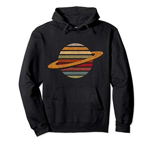 Vintage Retro Saturn Space Pullover Hoodie