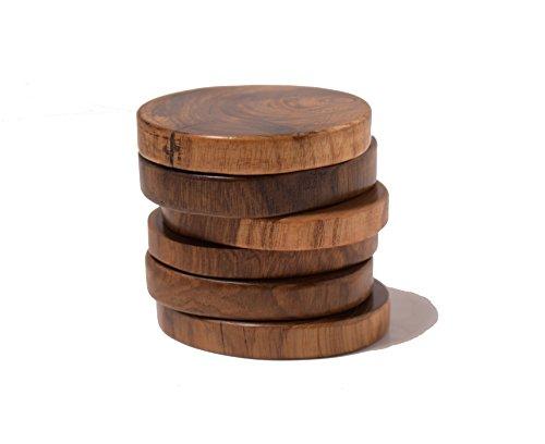 hashcart wunderschönen handgefertigt Palisander/Sheesham Holz Untersetzer für Home & Décor/Küche–Set von 6