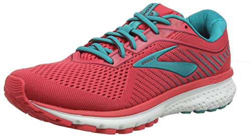 Brooks Ghost 12, Scarpe da Running Donna, Multicolore (Teaberry/Rumba/Viridian 672), 39 EU