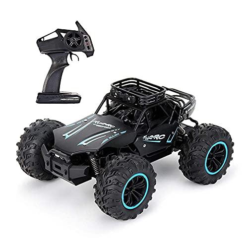 LJW de Alta Velocidad Fuera de la Carretera Control Remoto de Juguete, 1/18 aleación a Escala Bigfoot RC Vehículo Recargable RC Toy Toy Gifts, 2.4g Control Remoto (Color: Rojo)   Código de Productos: