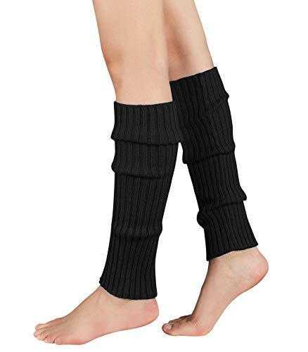 Durio Stulpen Damen Beinwärmer Winter Legwarmers Lange Ballettstulpen in vielen Farben Schwarz One Size