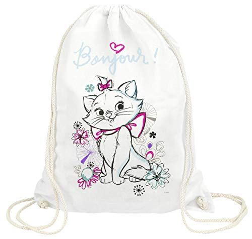 Aristocats Marie - Bonjour Unisex Turnbeutel weiß 100% Baumwolle Disney, Fan-Merch, Filme, Katzen