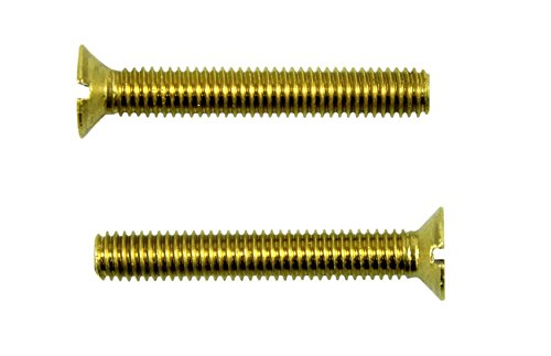 SN-TEC Messing Schlitz Gewindeschrauben DIN 963 mit Senkkopf M6 x 20mm (20 Stück)