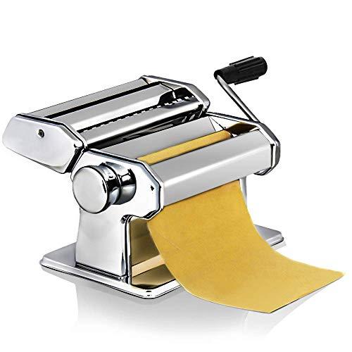Sailnovo Machine à Pâte Fraiche 3 En 1 En Acier Inoxydable Coupe Lasagnes, Spaghettis, Tagliatelles
