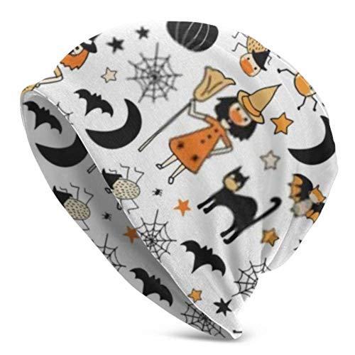 HJHJJ Beanie Hats For Men Women -Warm, Halloween Characters Wearing Face Masks Seamless Slouchy Beanie Cap Tough Headwear,Stretchy Soft Beanie Cap Year Round Comfort