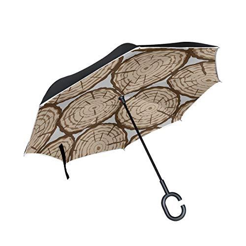 Sillas Plegables invertidas de Doble Capa Paraguas Árboles primitivos en Paraguas de...