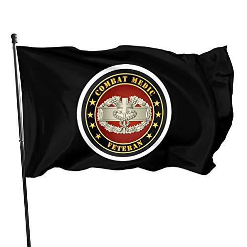 Us Army Combat Medic Veteran Bandera Bandera Bandera Bandera poliéster Material Jardín Decoración al aire libre 90 x 150 cm