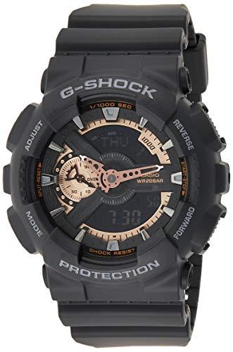 Casio GA110RG-1 Men's G-Shock Tough Analog & Digital Black Dial Alarm Watch