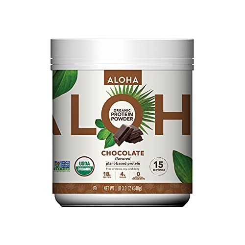 Plant-Based Protein Powder | Organic Chocolate Keto Friendly Vegan Protein with MCT Oil, 19 oz, Makes 15 Shakes, Vegan, Gluten Free, Non-GMO, Stevia Free & Erythritol Free, Soy Free, Dairy Free & Only 4g Sugar