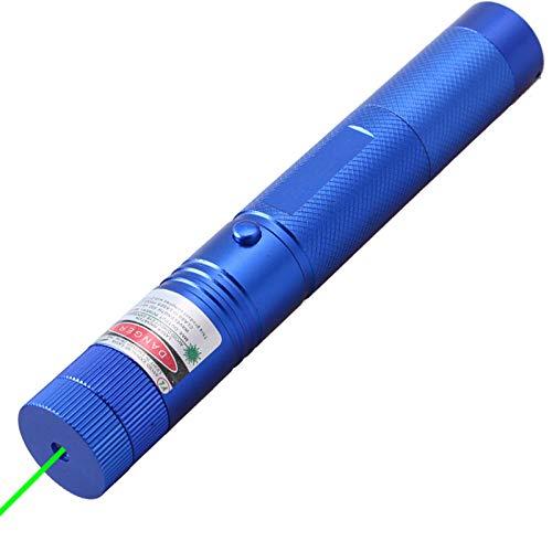 Fnho Carga USB portátil de Alta Potencia,Linterna LED con Enfoque Ajustable,Lápiz óptico de enseñanza para Oficina, Linterna Exterior-Azul