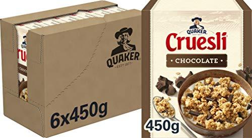 Quaker Cruesli Chocolade, doos 6 stuks x 450g