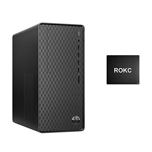 HP Desktop 2021 Premium Desktop Computer, 8 Core AMD Ryzen 7 4700G 3.6GHz, 8GB RAM, 256GB SSD, Wired Mouse & Keyboard,Bluetooth,Wi-Fi,VGA, RJ-45, HDMI,No DVD,Win 10, ROKC Mousepad