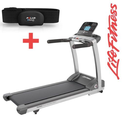 Life Fitness T3Track Tapis Roulant incluso H7Polar Fascia Toracica e tappetino