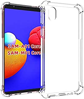 Samsung Galaxy A01 Core / M01 Core / A3 Core Case Cover Anti-falling Transparent Crystal Clear Shockproof TPU Bumper Cell ...