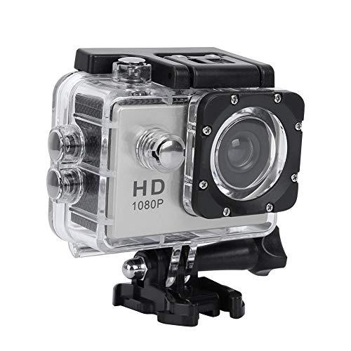 VBESTLIFE Sport Action Kamera, wasserdichte 1080p Unterwasserkamera mit 140 ° Weitwinkelobjektiv, 900mAh Akku, Unterwasser 30m(Silber)