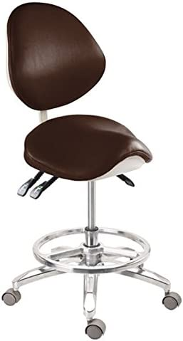 Deluxe Dental Mobile Chair New product!! Saddle Leather Ultra-Cheap Deals Stool Doctor's PU Chai