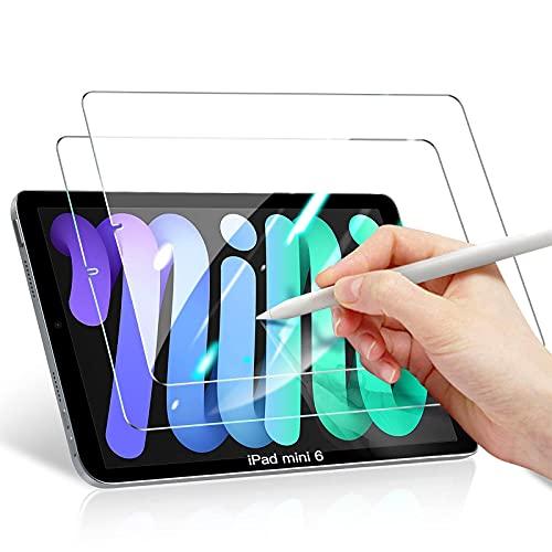 Benazcap iPad Mini6 ガラスフィルム2枚入8.3インチ 強化9H保護 0.33mm 飛散防止 3Dタッチ 指紋防止 気泡防止 撥水撥油 旭硝子 2021 iPad Mini 6世代 対応フィルム