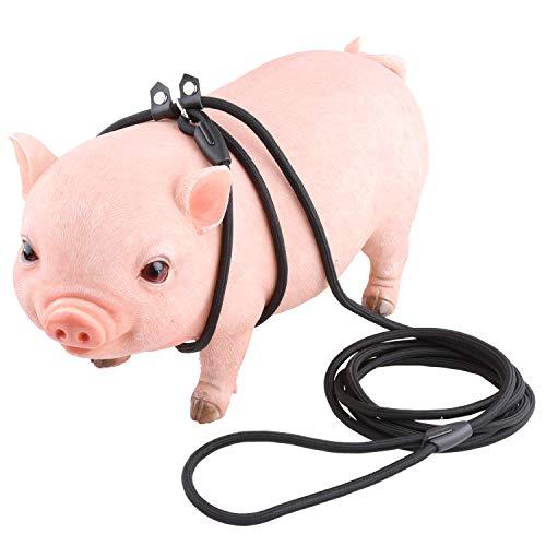 10ft Adjustable Mini Pig Harness for Pot Bellied Piggy Ferret Rabbit Small Animals Walking Training Jogging