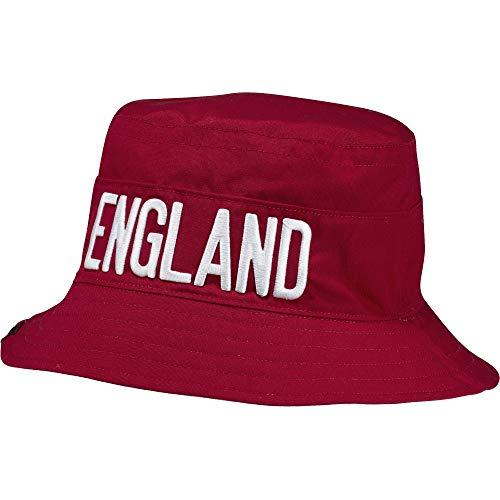 Adidas Reversible England Bucket Cappello da pescatore (OSF, rosso/bianco)