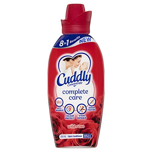 Cuddly Concentrate Fabric Softner Conditioner Complete Care Wild Rose Made in Australia, 850 ml