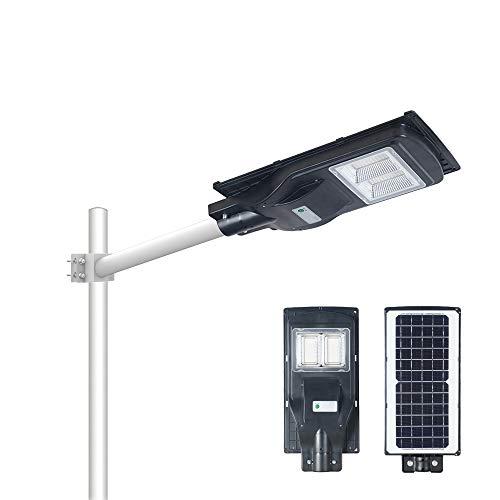 Gebosun Solar Street Light, Outdoor LED Light, with Light & Motion Sensor, IP65 Waterproof & Lightning Protection, Long Work from Dusk to Dawn(80W, 6000LM, 8000mAh)