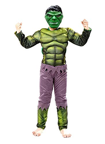 Costume Incredibile Hulk - Costumino - bambini - Travestimento - Carnevale - Halloween - cosplay - ottima qualita - Taglia M 4-5 anni - idea regalo originale natale compleanno