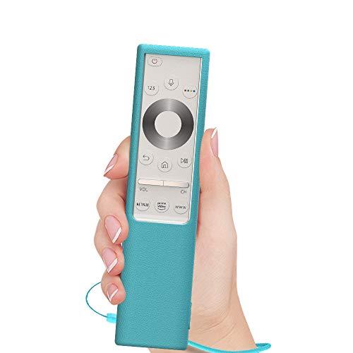 SIKAI Housse de Protection en Silicone Compatible with la Télécommande TV Samsung QLED Q7F / Q8 / Q9 2019 BN59-01311G / BN59-01311B TM1990C, Coque Anti-Rayures Antichoc (Bleu Fluorescent)