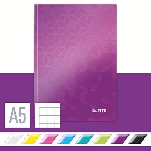 Leitz 46281062 Notizbuch WOW, A5, kariert, violett