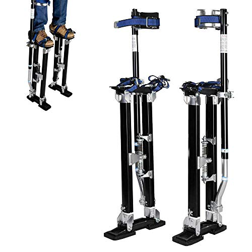 24' to 40' 227Lbs Strong & Stable Pentagon Tool Professional Black Drywall Stilts Suitable for Indoor and Outdoor Decoration