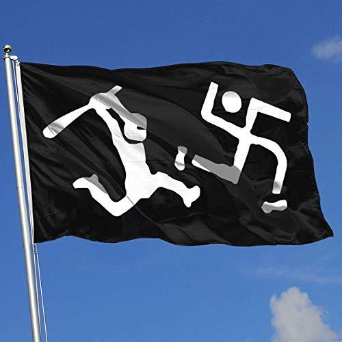 Zudrold Banderas al Aire Libre Bandera Anti Nazi para fanático del Deporte Fútbol Baloncesto Béisbol Hockey