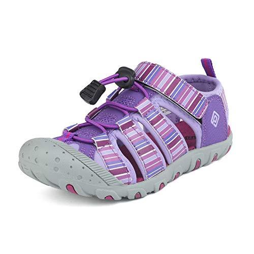 DREAM PAIRS Boys Girls Toddler 181105K Purple Light Purple Athletic Outdoor Summer Sandals Size 10 M US Toddler