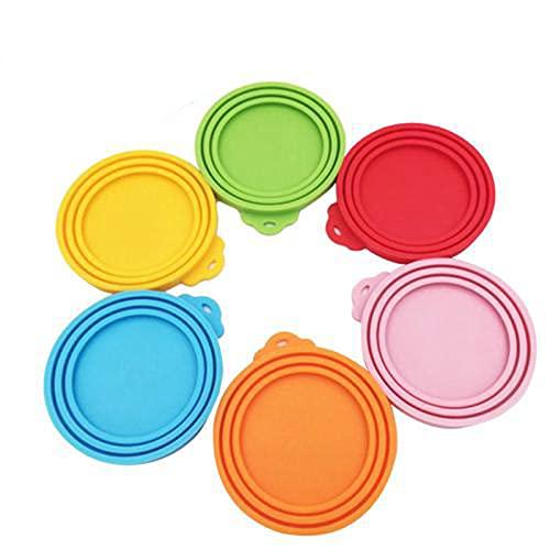 Tapa de silicona para comida de animales, 1 juego universal de tapa para latas de comida de animales, talla única, apta para lavavajillas, para latas para perros y gatos – aleatorio