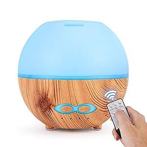 DINGYUFA Aroma difusor 400ml Esencial de aromaterapia Fresca difusor de Aceite eléctrico humidificador de Vapor humidificadores Cambio de Color purificador de Aire para la habitación del bebé,A