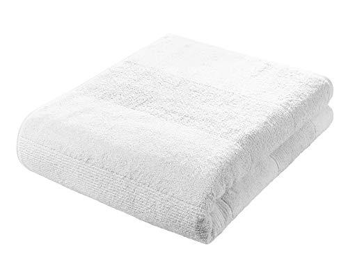 Fleuresse Frottier 2828 10 - Asciugamano da bagno, 90 x 200 cm, colore: Bianco,1 Pezzo