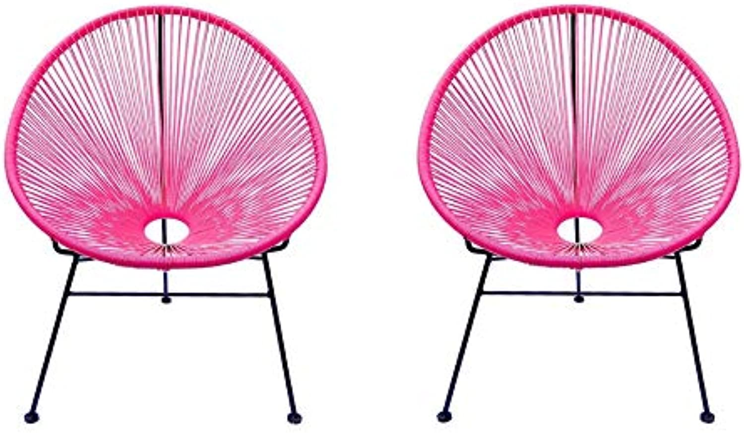silver Import Acapulco Kids Chair Set of 2 in Pink