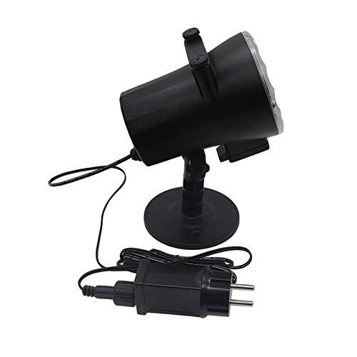 Allibuy Lámpara del Proyector Lámpara De Proyector Animada Proyector De Película De Nieve De Luz De Escenario Sky Night Light para Decoración Navide?a