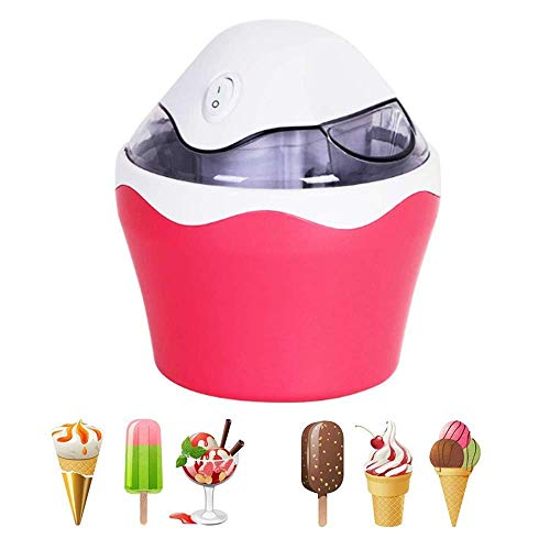 Hefacy Eismaschine mit eingebautem Gefrierschrank, 500 ml gefrorener Joghurt, Sorbet, automatische Maschine, Eismaschine