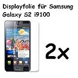 2x Samsung Galaxy S2i9100Protector de Pantalla Ultraclear @ Energmix®
