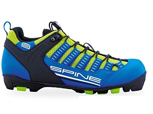 Spine Rollski Schuhe Skiroll Classik Sommer Roller Skike Schuhe für NNN-, Prolink- und Turnamic-Bindungen (Blau/Lime, 43)